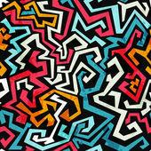 Fotografie graffiti křivek bezešvé vzor s grunge efekt
