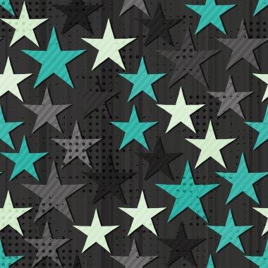 Grunge star seamless