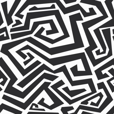 monochrome curved lines seamless texture