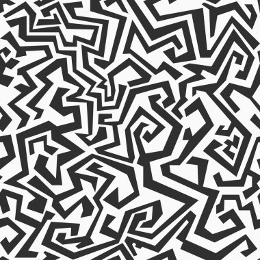 monochrome seamless maze pattern
