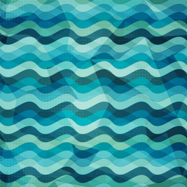 water seamless pattern with grunge effect