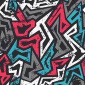 Fotografia modello senza saldatura colorati graffiti con effetto grunge