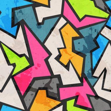 grunge colored graffity seamless pattern