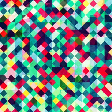 colored pixels seamless pattern