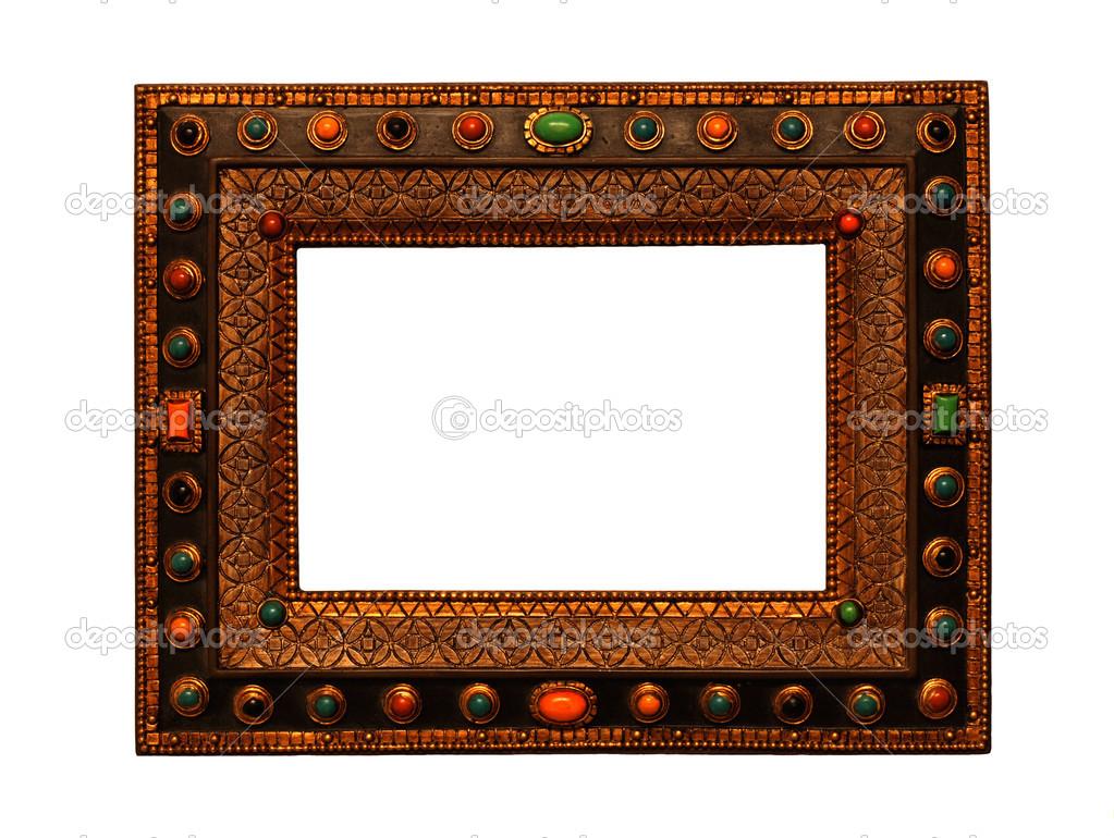 Vintage Holz verzierten Bilderrahmen — Stockfoto © felker #12013341