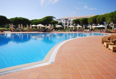 Pool in luxury hotel