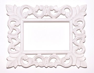Vintage white picture frame