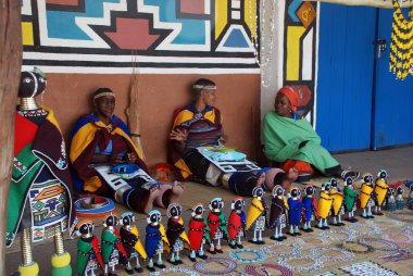 Ndebele women in traditional dress (South africa)