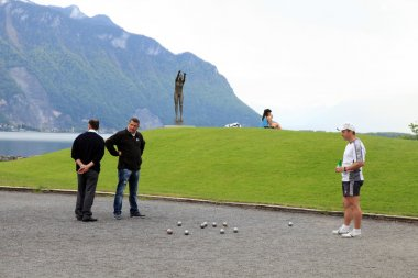 Boules in Montreux, Switzerland