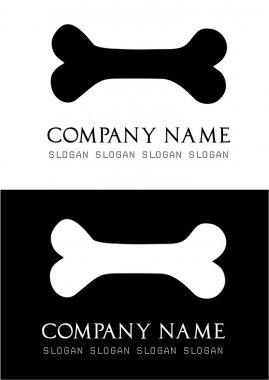 Dog bone logo vector