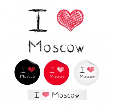 Illustration i love Moscow
