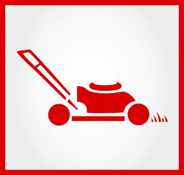 Lawn mower symbol vector