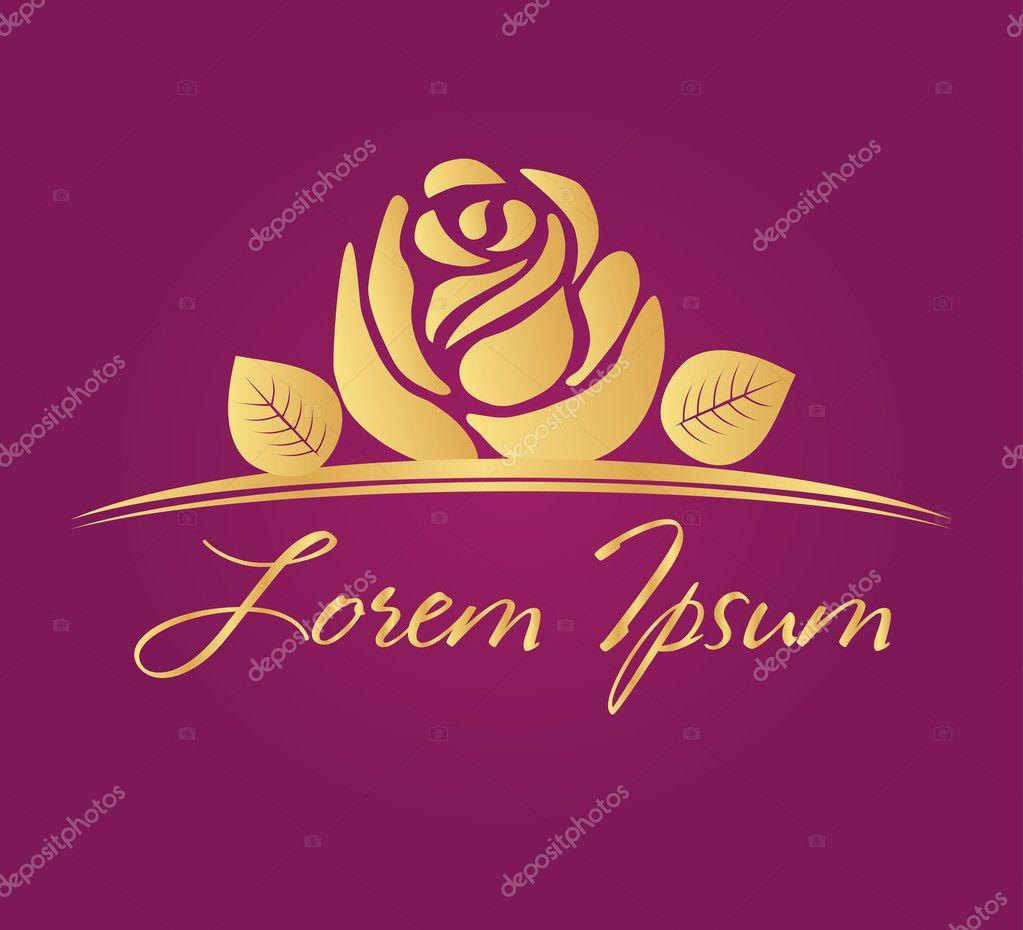Rose symbol vector