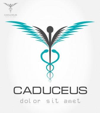 Caduceus medical symbol. Emblem for drugstore or medicine.
