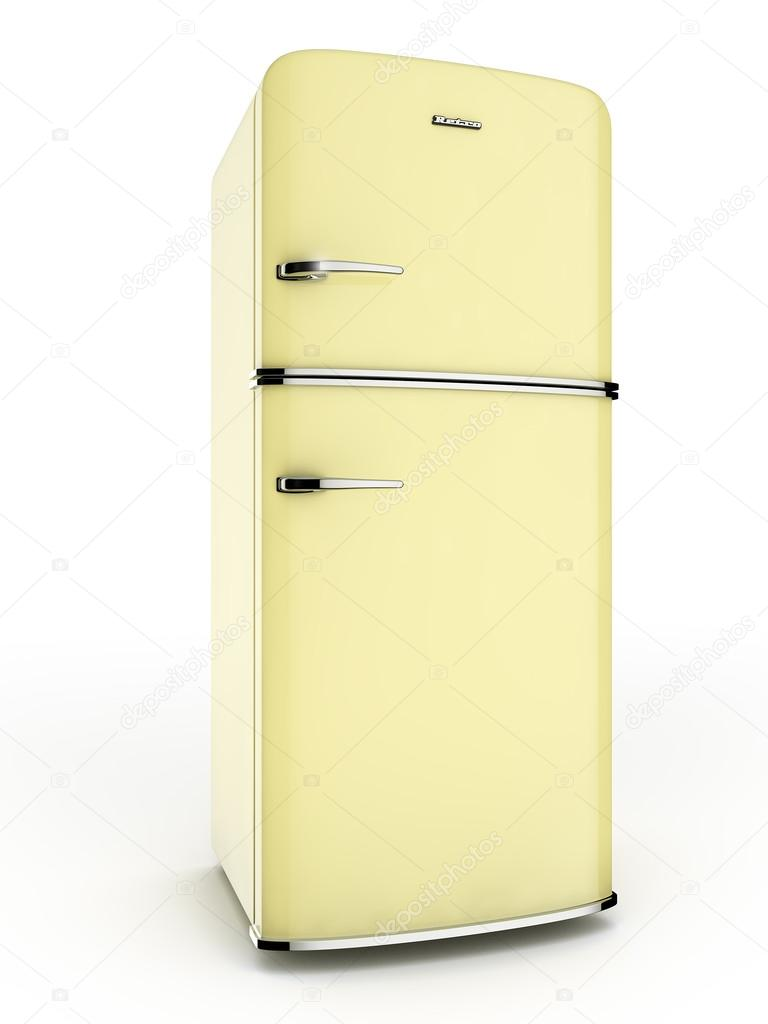 Retro yellow refrigerator — Stock Photo © remixon #12567013