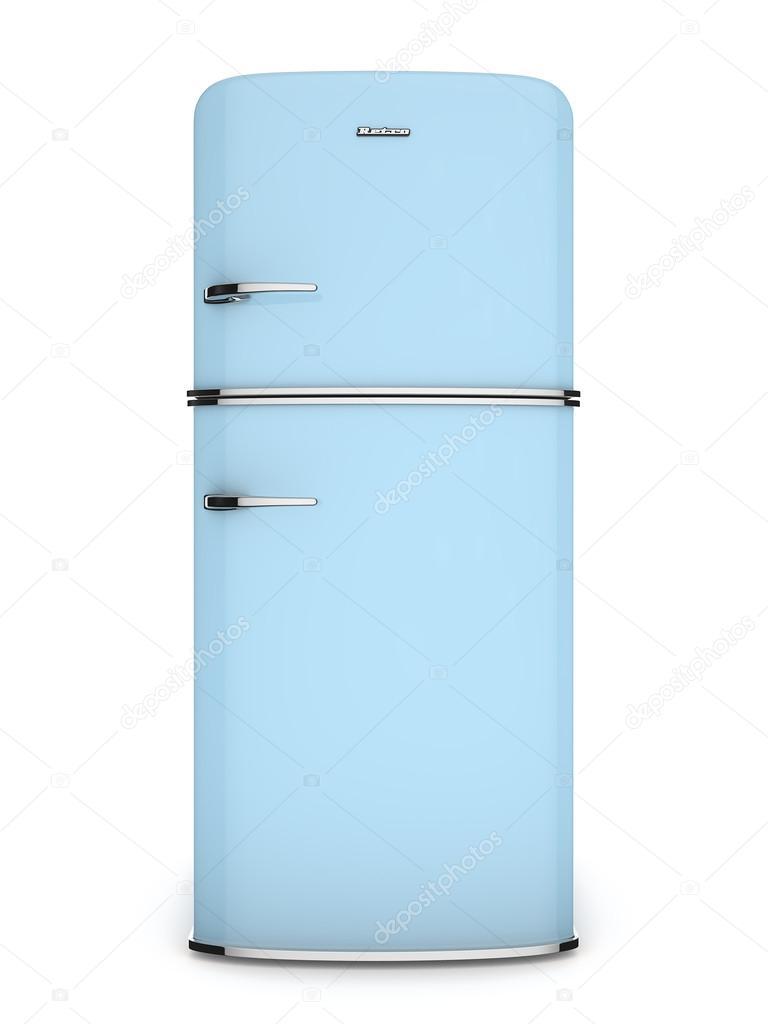 blau Kühlschrank — Stockfoto #12567058 | {Kühlschrank retro 45}