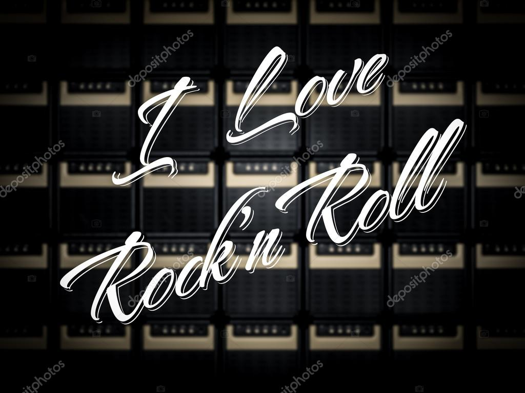 I Love Rock And Roll Stock Photo C Remixon 47170965