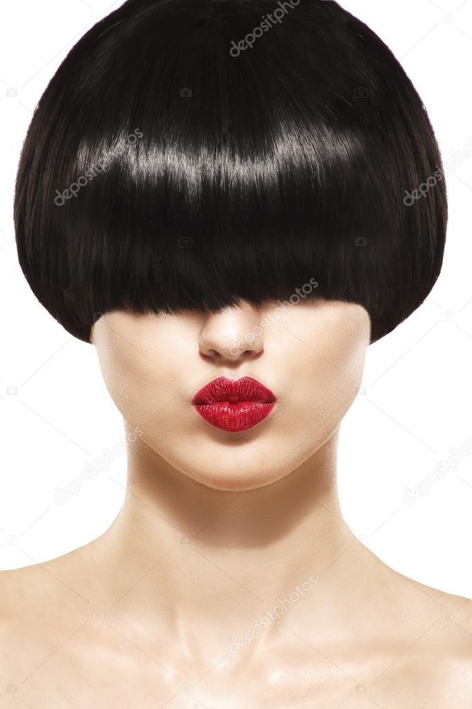 Chicas de pelo corto y flequillo