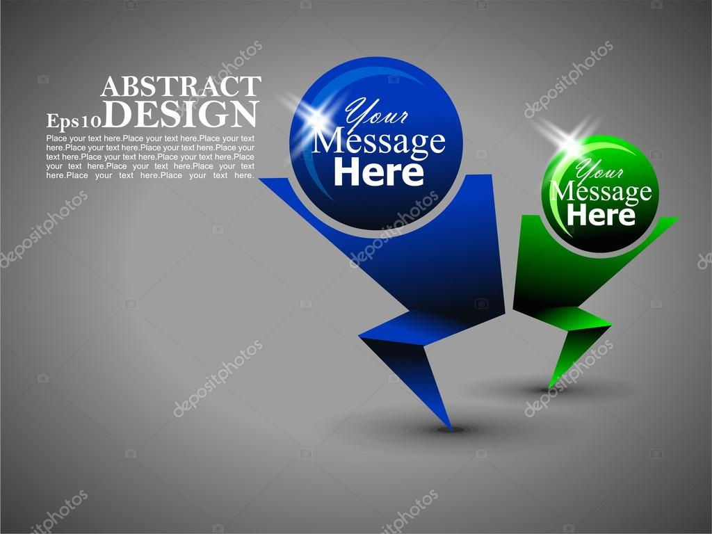 Abstract set of template banner Illustration on layout design ic