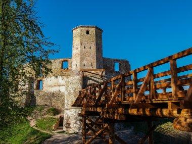 Old gothic medieval castle in Siewierz, Poland