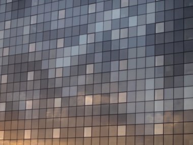 Sunset reflection on texture building