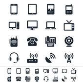 Symbole für Kommunikationsgeräte