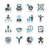 podnikání a managementu ikony - odraz téma