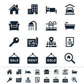 Fotografia immobiliare icone - tema di riflessione
