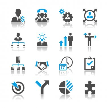 Business and management icons - reflection theme