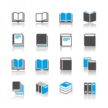 Book icons - reflection theme