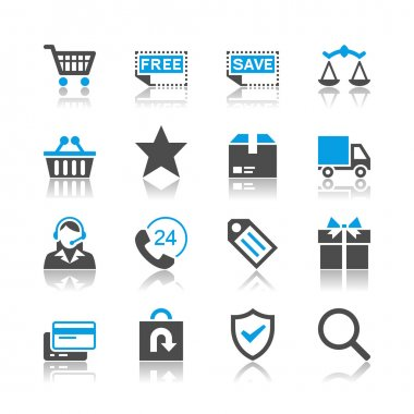 Simple vector icons. Clear and sharp. Easy to resize. EPS10 file contains opacity masks. stock vector