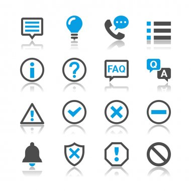 Information and notification icons - reflection theme
