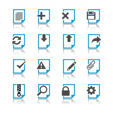 Document icons reflection theme