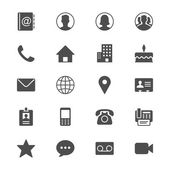 Photo Contact flat icons