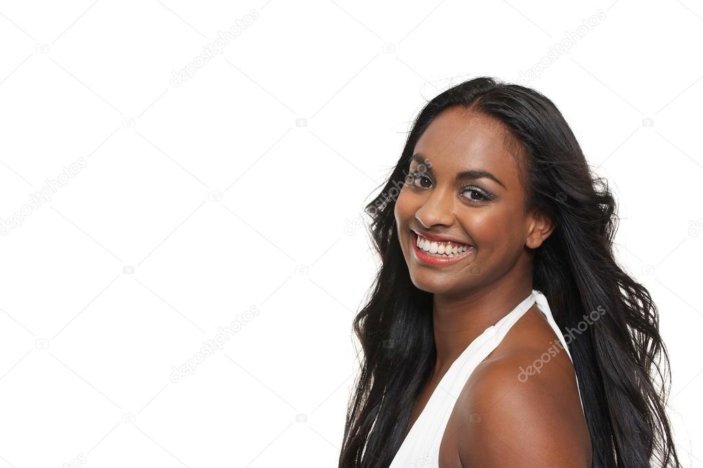 Smiling Mixed Race Girl