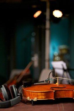 Violin in Music Studio
