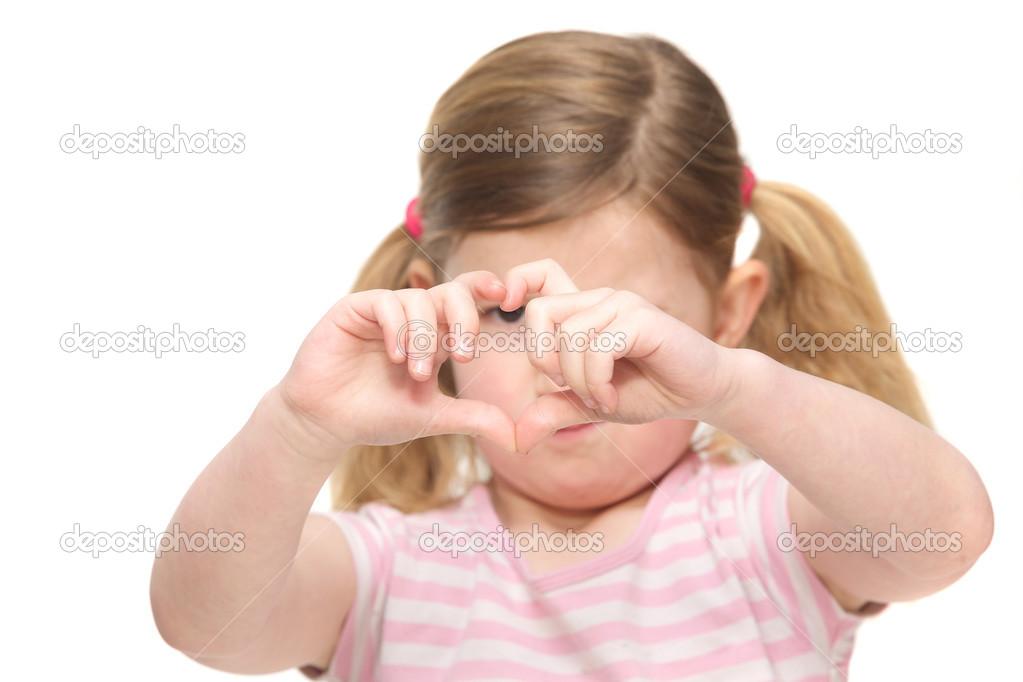 Mädchen In Kostümen Fingern Sich