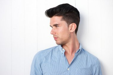 Attractive you man with modern hairstyle