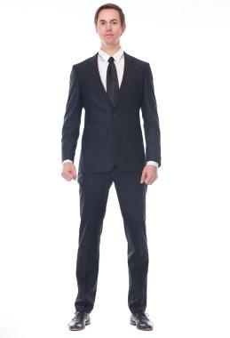 Full body portrait of a businessman
