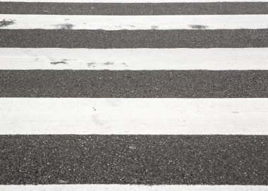Zebra crossing on city street