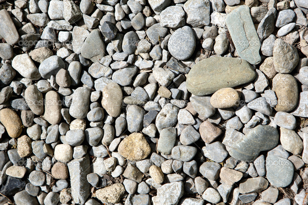 Gray pebbles and stones