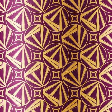 Art Deco Geometric Seamless Pattern