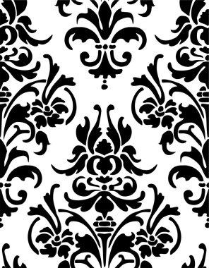 Seamless wallpaper pattern, black