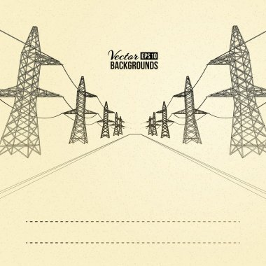 Electric pylons in perspective.