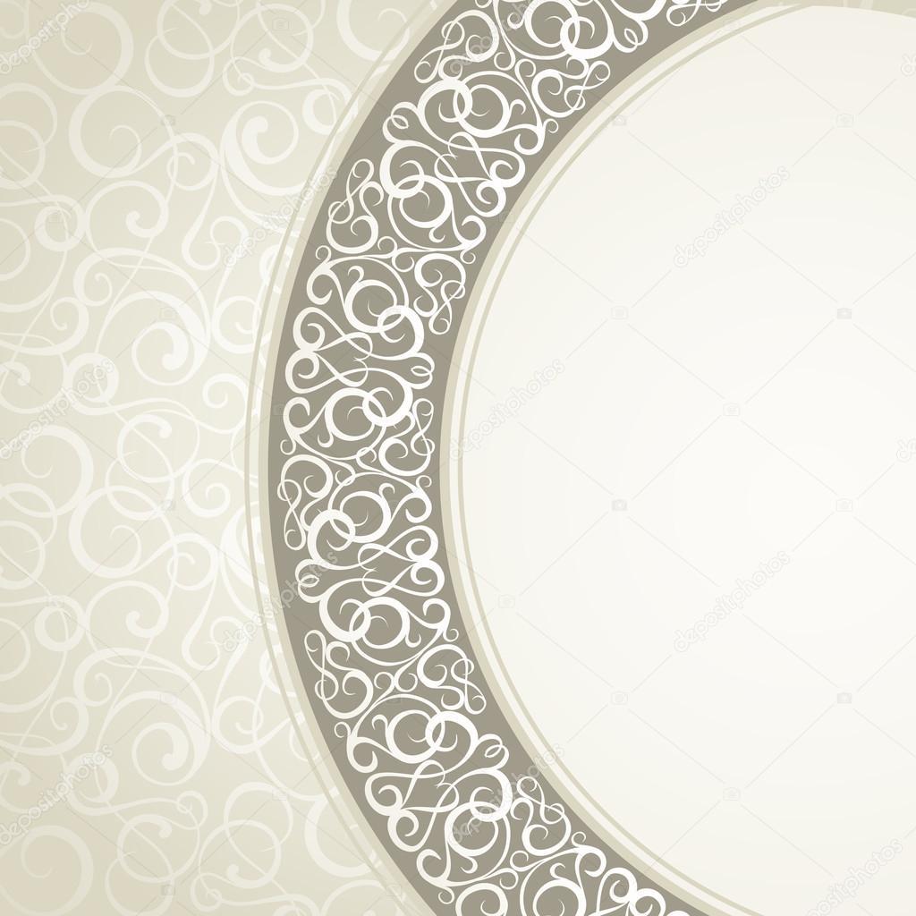Floral circle frame.