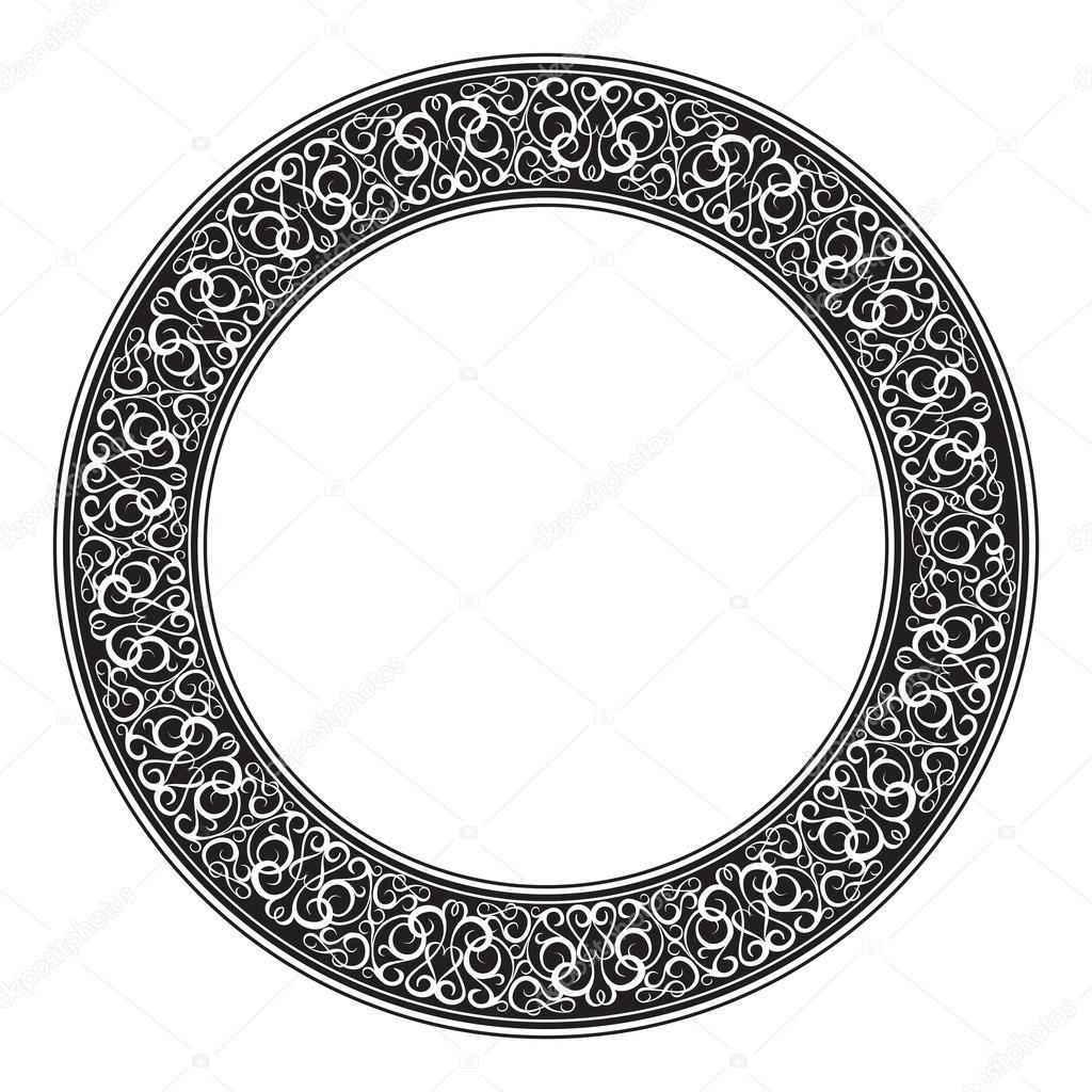 Circle ornamental decorative frame
