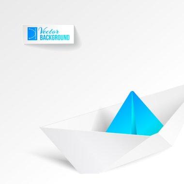 Paper ship origami.