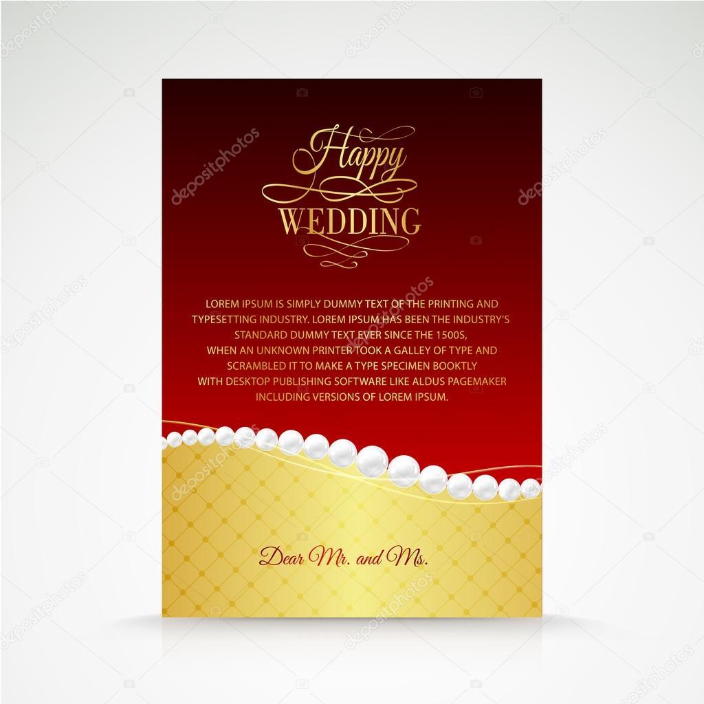 Wedding jewelry invitation card. — Stock Vector © Kotkoa #30831361