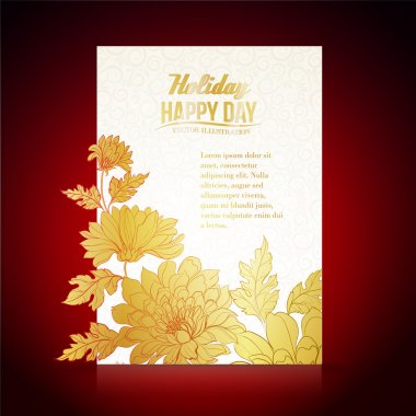 Card background from chrysanthemums