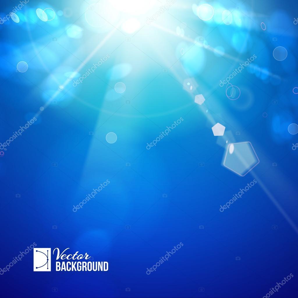 Sun shine rays with bokeh.